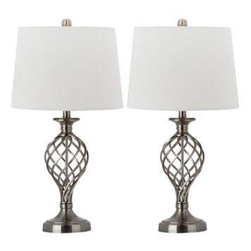 Safavieh 2-piece Lattice Urn Table Lamp Set