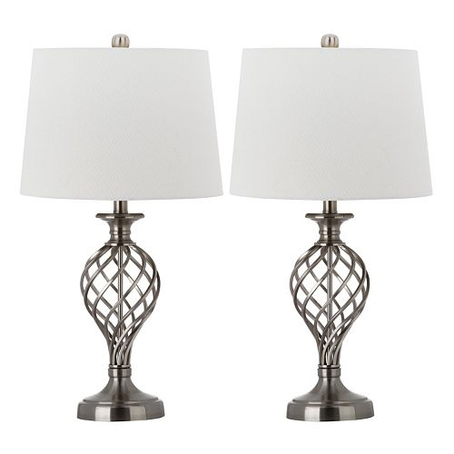 Safavieh 2-piece Lattice Urn Table Lamp Set
