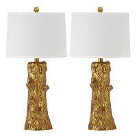 Safavieh 2 pc Arcadia Faux Bois Table Lamp Set