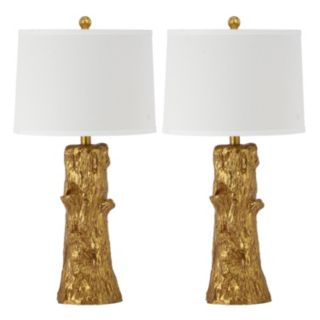 Safavieh 2-piece Arcadia Faux Bois Table Lamp Set
