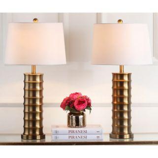 Safavieh 2-piece Linus Column Table Lamp Set