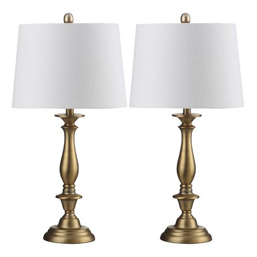 Safavieh 2-piece Brighton Candlestick Table Lamp Set