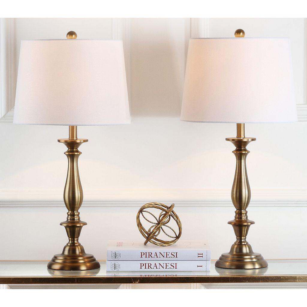 Safavieh 2-piece Brighton Candlestick Table Lamp Set