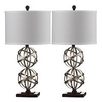 Safavieh 2 pc Haley Double Sphere Table Lamp Set