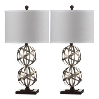 Safavieh 2-piece Haley Double Sphere Table Lamp Set