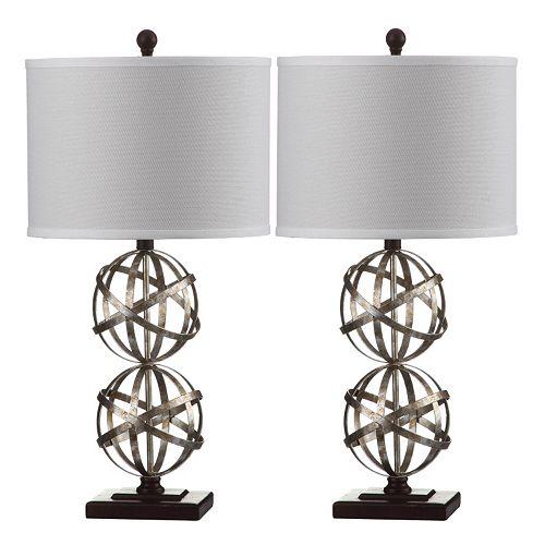 Safavieh 2-piece Haley Double Sphere Table Lamp Set