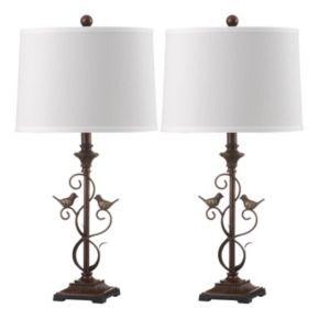 Safavieh 2-piece Birdsong Table Lamp Set