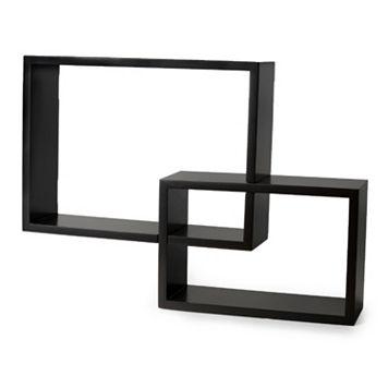 Melannco 2-piece Overlapping Cubes Wall Decor Set