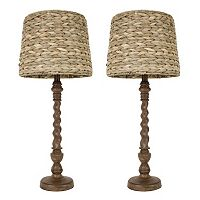 Decor Therapy 2 pc Seagrass Table Lamp Set