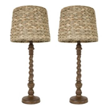Decor Therapy 2-piece Seagrass Table Lamp Set