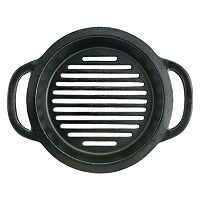 Mr. Bar-B-Q 10 in Cast-Iron Grill Pan