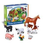 Learning Resources 7-pc. Jumbo Farm Animals