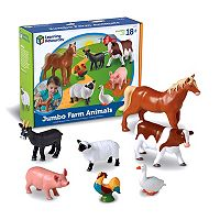 Learning Resources 7 pc Jumbo Farm Animals