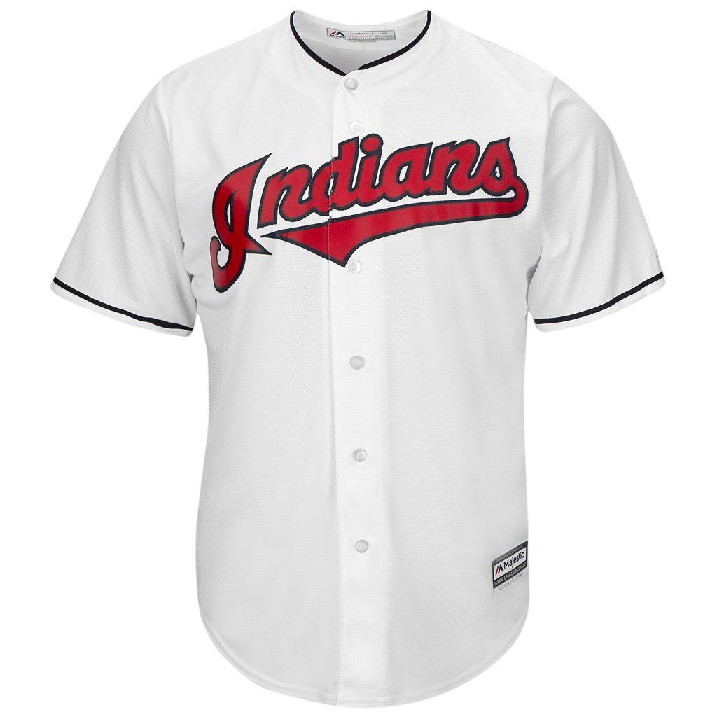 Men's Majestic Cleveland Indians Jason Kipnis Cool Base Replica MLB Jersey