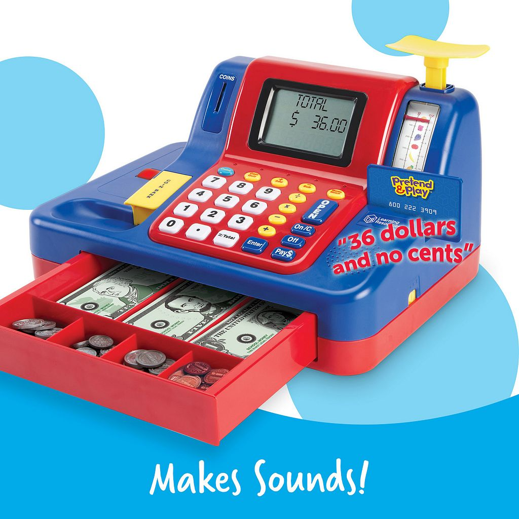 Pretend & Play Teaching Cash Register by Learning Resourcs