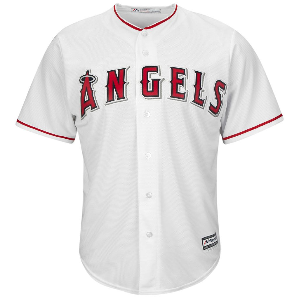 Men's Majestic Los Angeles Angels of Anaheim Jared Weaver Cool Base Replica MLB Jersey