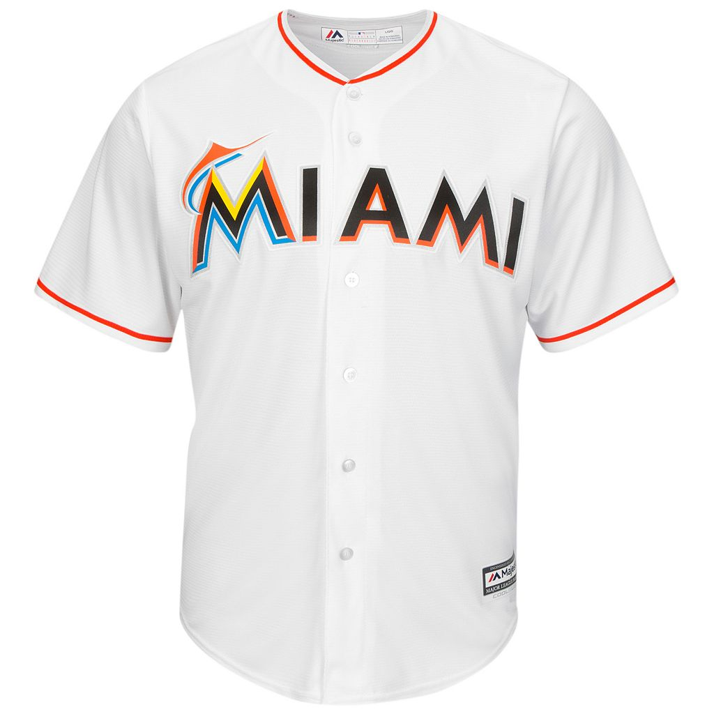 Men's Majestic Miami Marlins Giancarlo Stanton Cool Base Replica MLB Jersey