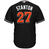 Men's Majestic Miami Marlins Giancarlo Stanton Cool Base Replica MLB Jersey