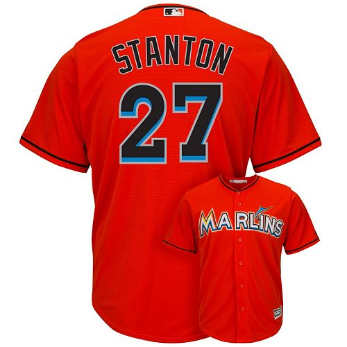 d8c3c927c27 Men s Majestic Miami Marlins Giancarlo Stanton Cool Base Replica MLB Jersey