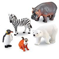 Learning Resources 5 pc Jumbo Zoo Animals