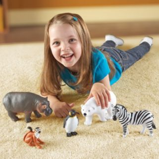 Learning Resources 5-pc. Jumbo Zoo Animals