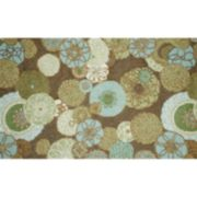 Liora Manne Ravella Disco Floral Indoor Outdoor Rug