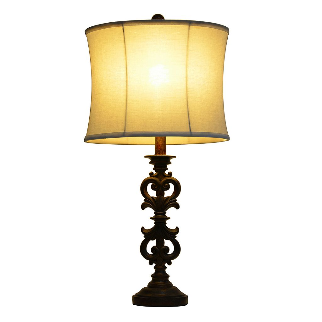 Decor Therapy Carved Table Lamp
