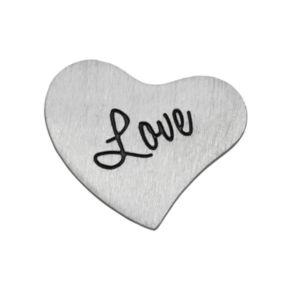 "Blue La Rue Silver-Plated ""Love"" Heart Charm"