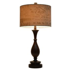 Decor Therapy Script Table Lamp