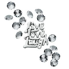 Blue La Rue Crystal Silver-Plated 'Live Laugh Love' Charm Set - Made with Swarovski Crystals