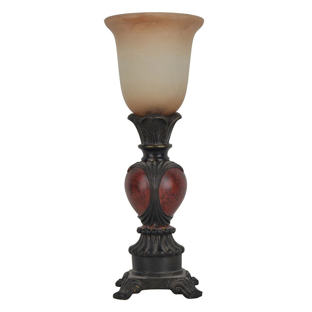 Decor Therapy Traditional Carved Table Lamp