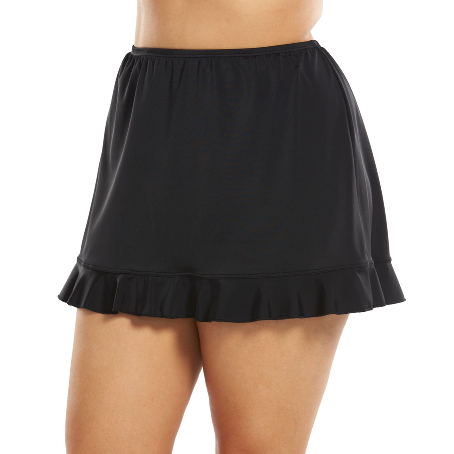 Plus Size A Shore Fit Hip Solutions Ruffled Skirtini Bottoms