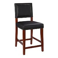 Linon Brook Black Counter Stool