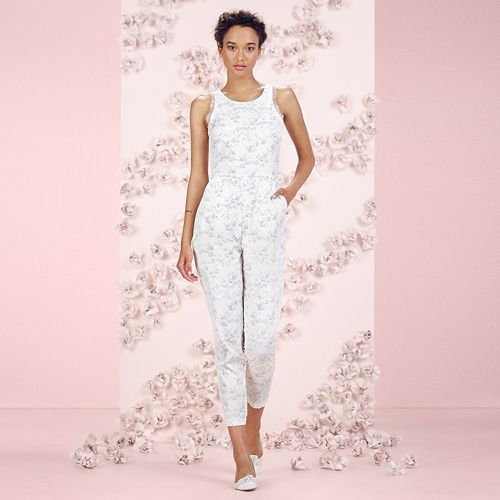 LC Lauren Conrad Runway Collection Fox Print Lace Jumpsuit - Women's