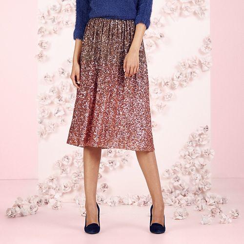 LC Lauren Conrad Runway Collection Sequin Ombre Midi Skirt - Women's