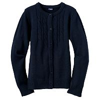 Girls 4-6x Chaps School Uniform Cable-Knit Cardigan