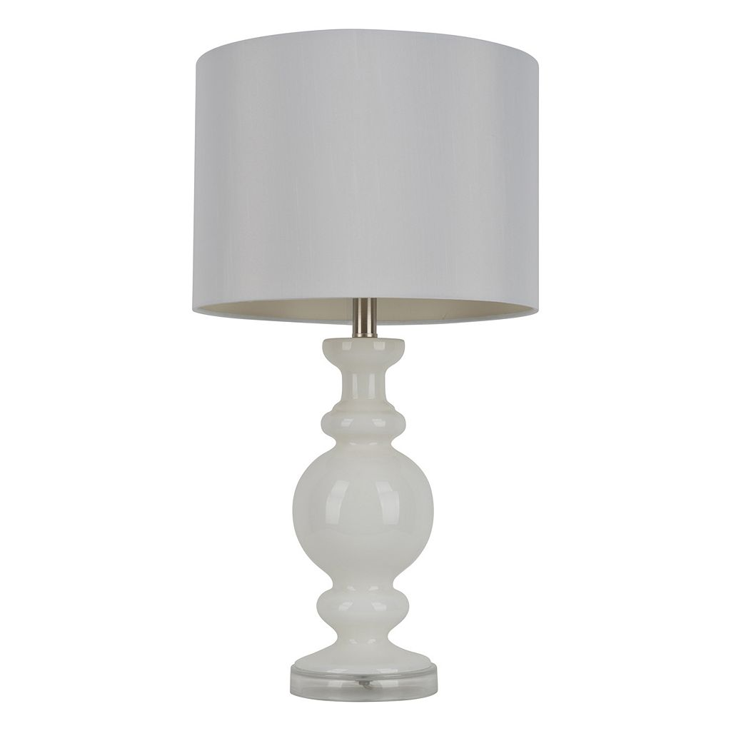 Decor Therapy Milk Glass Table Lamp