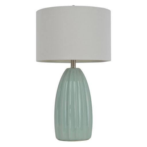 Decor Therapy Blue Crackle Ceramic Table Lamp