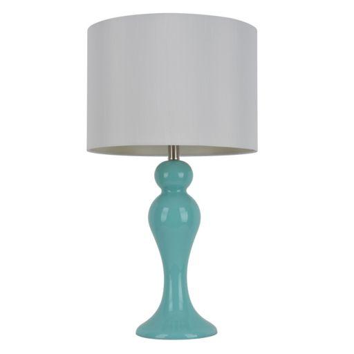 Decor Therapy Light Blue Ceramic Table Lamp