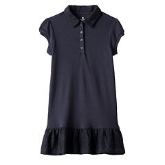 Girls 4-6x Chaps School Uniform Polo Dress