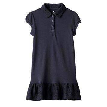 Girls 4-6x Chaps School Uniform Polo Dress