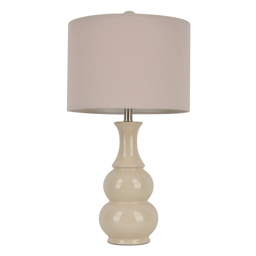 Decor Therapy Crackle Bubble Table Lamp
