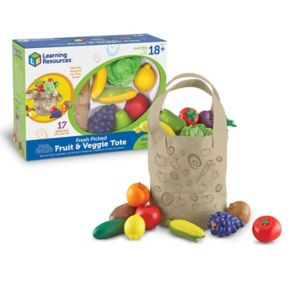 Learning Resources New Sprouts Fresh Picked Fruit & Veggie Tote
