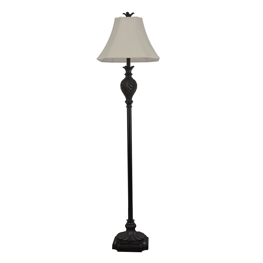 Decor Therapy Dark Brown Floor Lamp