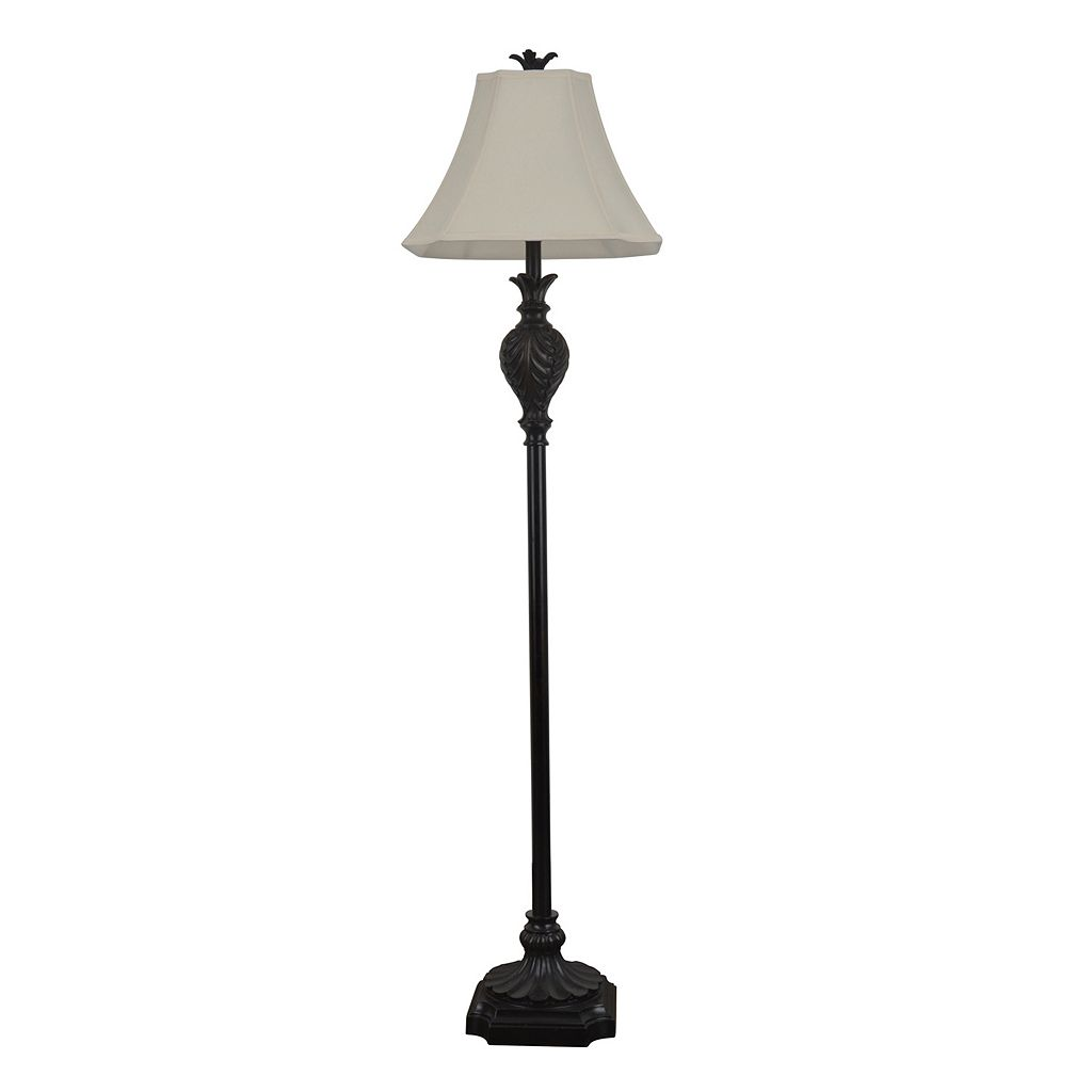 Decor Therapy Dark Brown Floor Lamp