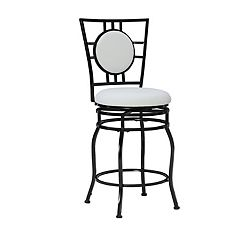 Linon Townsend Adjustable Swivel Bar Stool