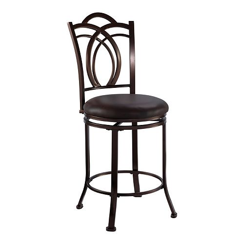 Linon Calif Swivel Counter Stool