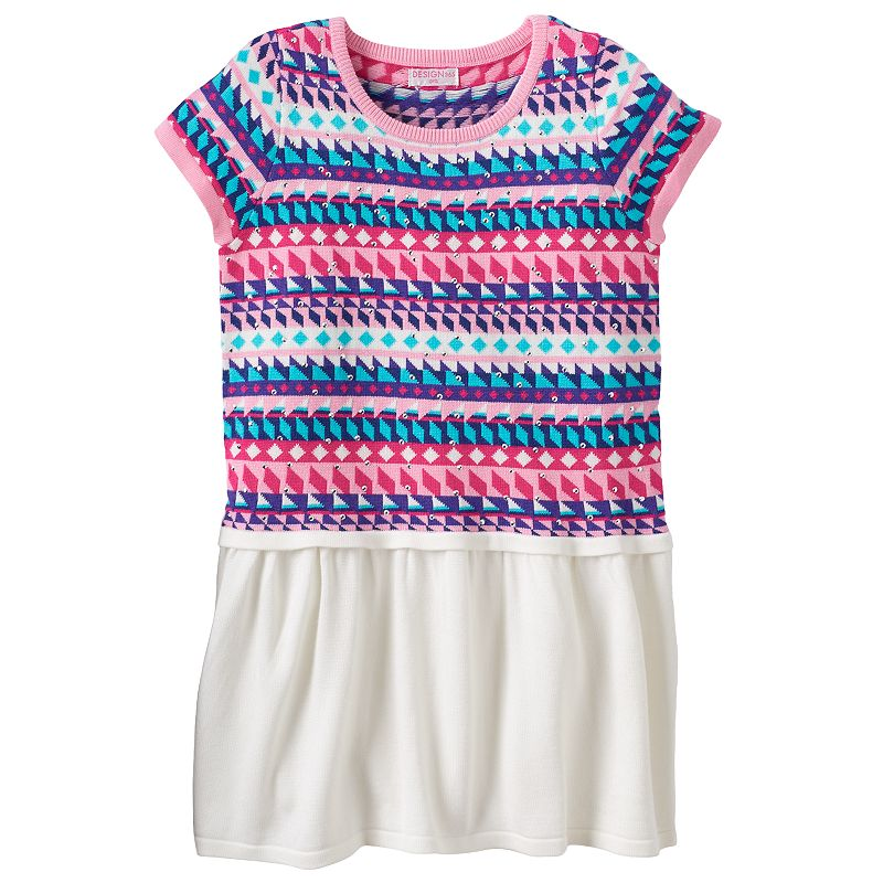 Design 365 Fairisle Sweater Dress - Girls 4-6x