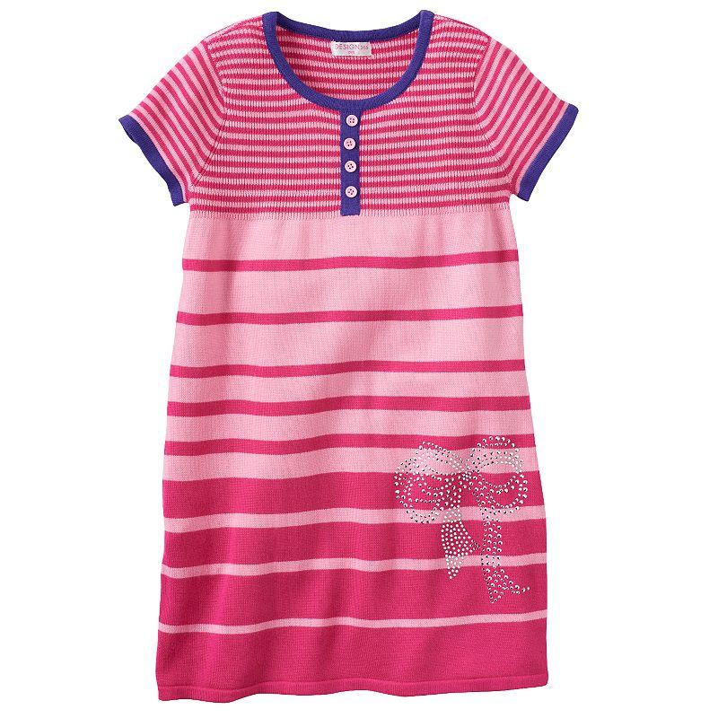 Design 365 Striped Sweater Dress - Girls 4-6x