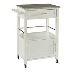 Linon Mitchel Granite Top Kitchen Cart
